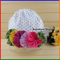 BABY chapeus hat flower Baby cool cap Cotton Hat / Top baby/baby Amour Girls bonnet beanies #2B1501 20pcs/lot (31 styles)