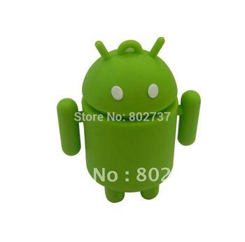 GREEN Android memory key ,  usb drives pen drive , thumb drive, usb flash 8
