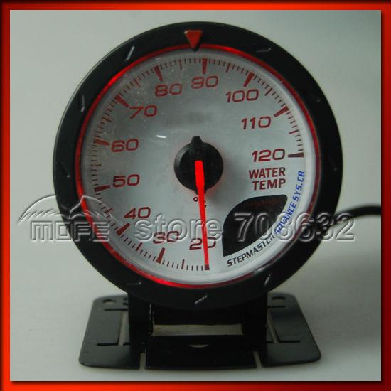 60mm DF CR Water Temperature Temp Meter Gauge White / Red LED ...