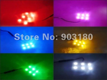 50pcs/lot DC12V LED car Light, 6LEDS 5050SMD reading dome light, 108LM,LED car lamp, automotive supplies , free shipping