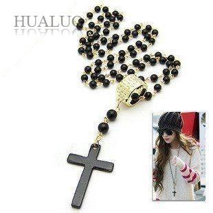 Fashion vintage beads Cross Necklace SUPER DEALS NECKLACE SUPER DEALS JEWELRY N307