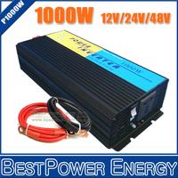 Free Shipping! 1000W Off Grid Inverter DC12V/24V/48V to AC110V/220V Pure Sine Wave Inverter, Wind Solar Power Inverter Converter