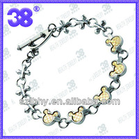 Black mickey  magnetic Stainless steel bracelet bangles