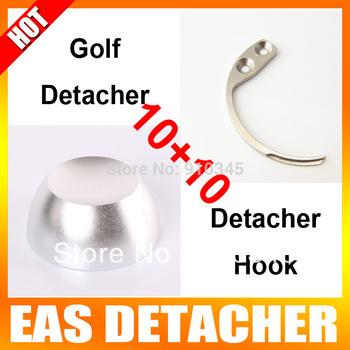 10Pcs 12,000gs Golf Detacher 10Pcs Detacher Hook Key Tag Remover EAS System The Security Detacher
