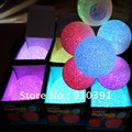 Free shipping,Retail pack 6cm 7 LED colors magic crystalball night light,color changing novelty led lamp,magic flashing ball