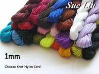 U Pick! Quality! 1mm 140M/150yds (30yds x 5pcs) Multicolor Chinese Knot Beading Shamballa 100% Nylon Cord NCN10