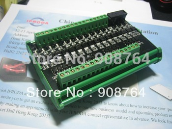 Free shipping HK mail 16CH 8A  OptoCoupler isolate amplifier  Board Module for PLC / PLC output board