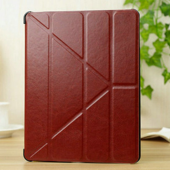 "4 Shapes PU Leather Case for ipad  4 3 2 9.7"" Smart Cover Sleep Function Stand Magnetic Fashion, Utrathin Design Transformer"