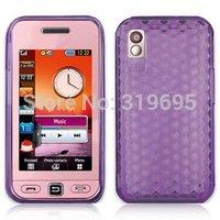 Diamond Purple Armor TPU Gel Case Cover Protector For Samsung S5230 Tocco Lite