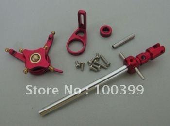 Free shipping 1set WLToys WL Toys V911 nine eagle sopo poro 4CH 2.4G Micro RTF Helicopter CNC Alloy Metal Upgrade set Red