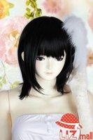 Women Black Heat Friendly Lolita Short Straight Lace Hair Wig / Lolita Animation Cosplay Party Wig