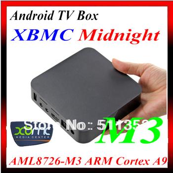Free Shipping Android 4.0 Google Tv Box with Amlogic Cortex A9 1.2GHZ, 1GB DDR3, 4GB Flash, HDMI 1080P, WIFI, Flash 1.3 Games