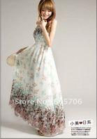 Free shipping Bohemia Indigenous flavor long style brace dresses chiffon maxi dress long