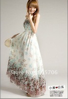 Free shipping Bohemia Indigenous flavor long style brace dresses chiffon maxi dress long