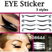 eyeliner sticker eyelids eye liner stickers lashes eyelash Smoky Eyes Sticker application temporary 3 styles total 12 designs