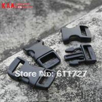 Singapore post 100pcs 10mm KAM Brand plastic Curved Contoured Side Release Buckle for ParaCord Bracelet webbing POM Material