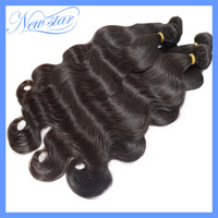 6A New Star Mixed length 4pcs/lot virgin human hair weaves peruvian body wave natural black color wholesale price free shipping