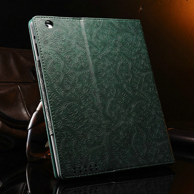 Phoenix Pattern PU Leather case for ipad 3 2 4 New Vintage Smart Cover Stand Flip Muti Colors Free Stylus(China (Mainland))