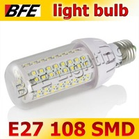 Holiday Sale 4pcs/Lot E27 108 SMD LED 6W Warm/Cold White Corn Light Bulbs LED Lamp For Chandelier