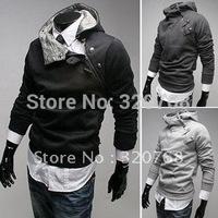 Free Shipping High collar coat 2012 arrival top brand men's jackets,men's dust coat,men'soutwear Color:4 Colors Size:M-XXXL