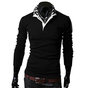 Новое поступление мужская футболка с длинным рукавом slim-подходят, Мода футболка бесплатная доставка 2 цвет 4 размер