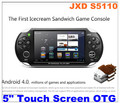 "NEW Free Shipping   JXD S5110 5"" Android4.0 Icecream Sandwich OTG HDMI Capacity Touch Screen Game Console TV Output  512MB/4G"