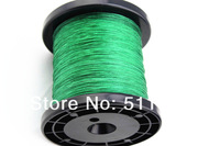 Free Shipping 1000M/PCS 30LB PE Braid Fishing Line GREEN 6 strand