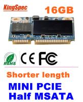 Kingspec  MINI PCIE Half mSATA SATA III SATA II SSD Module MLC  16GB  For Tablet PC HARD DRIVE , CE FCC ROHS free shipping
