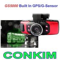 GS5000 Full HD 1080P Car DVR Cam Recorder Camcorder Vehicle Dashboard Camera Built In GPS/G-Sensor+1.5inch+H.264 Video Codecr