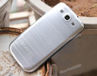 S3 Brush Aluminum Battery Back Cover,Metal Housing Case With Anti-Scratch Scree Protector For Samsung Galaxy S3 i9300