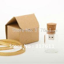 Бесплатная доставка новое поступление сумка почтальона сумочки бутылка usb памяти стекло дрейф бутылки usb флэш-накопители бесплатный упаковка