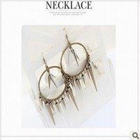 Free shipping $20 for 2015 Fashion punk wind restoring ancient ways rivets eardrop of female money earrings