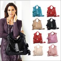 Hot 2014 New Fashion Serpentine Floral Tassel Party Women Handbag Genuine Leather Shoulder Bag Messenger Bags 8 colors NO7771