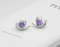 Factory Price / 2012 New Arrive 925 Sterling Silver Stud Earrings.Fashion 925 Silver Earring.Silver Jewelry.Free Shipping