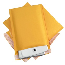 500 #000 4x8 [102mm&quot;x203mm&quot;] KRAFT BUBBLE MAILERS PADDED MAILING ENVELOPE BAG SHIPPING SUPPLY(China (Mainland))