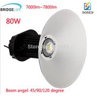 80w High Bay Light Fixtures Warehouse Light Sosen driver UL SAA CE approval Bridgelux 45mil  DHL free shipping