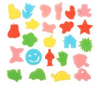 24PCS/LOT,Art sponge stamp,Kids toys,Paint toys,Art brush,Drawing toys,24 design,Paint brush,Art tools.Free shippingWholesale