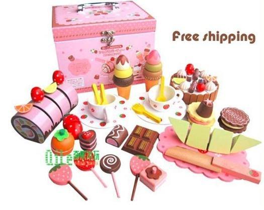 Online kopen Wholesale houten speelgoed taart uit China