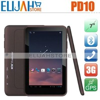 "Post Free Freelander PD10 7"" Capacitive MTK6575 3g GPS Tablet PC WCMA android 4.0 1G 8G Bluetooth HDMI WIFI dual cam Dual sim"