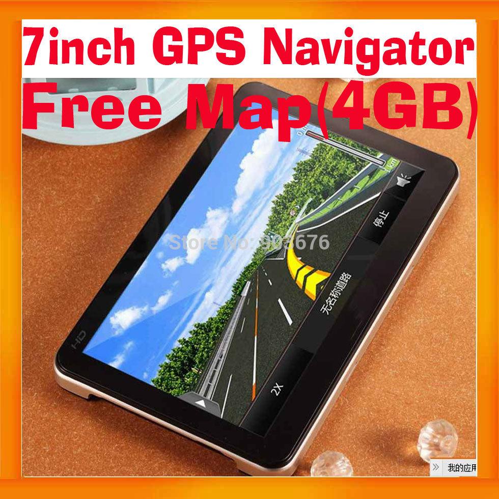 Best seller 7Inch Car GPS Navigation System 4GB Free Map Ebook Read WIN CE 6.0 FMT MP3 MP4 2PCS/LOT(Hong Kong)