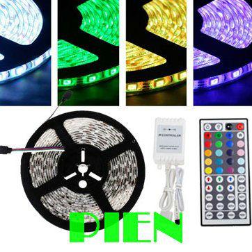 5050 RGB led strip 5M 300 LED tape 12V Car home ribbon non waterproof +44 key rgb controller Free Shipping 1set(China (Mainland))