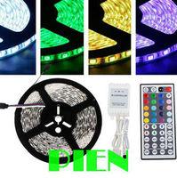 Garland 5050 RGB led strip 5M 300 LED tape tiras de feed Car ribbon non waterproof 12V+44 key rgb controller Free Shipping 1set