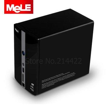"MeLE S1 2Bay NAS 3.5"" SATA HDD External Enclosure Media Player RAID, Full-HD 1080P HDMI1.3 USB 3.0 Giga LAN Built-in WiFi"
