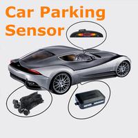 Free shipping New 4 sensors car parking system radar 12v LED display Indicator buzzer sensor reverse radar #8097