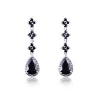 A88244 Fashion women earrings white color 18kt white gold filled earrings frozen earrings Christmas gift Zircon earrings