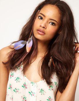 # XA007 fashion vintage feather swallow hair accessory money female pendant  wholesale charms  TKK-6.99