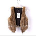 Faux Fur Women Vest Jacket Luxurious Short Shawl 2013 New Fashion Big Size Female Vest jackets  b069 of(China (Mainland))