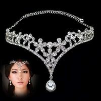 2013 Hot Crystal Tiara Crown Hair Accessories For Wedding Quinceanera Tiara Hair Chain Pageant Hair Jewelry 5 Designs WIGO0009