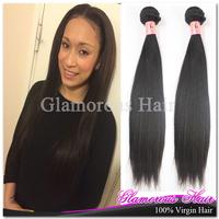 No Smell Peruvian Virgin Hair Straight Hair Cuticle Intact Non-Dyed Virgin Hair 4pcs/lot