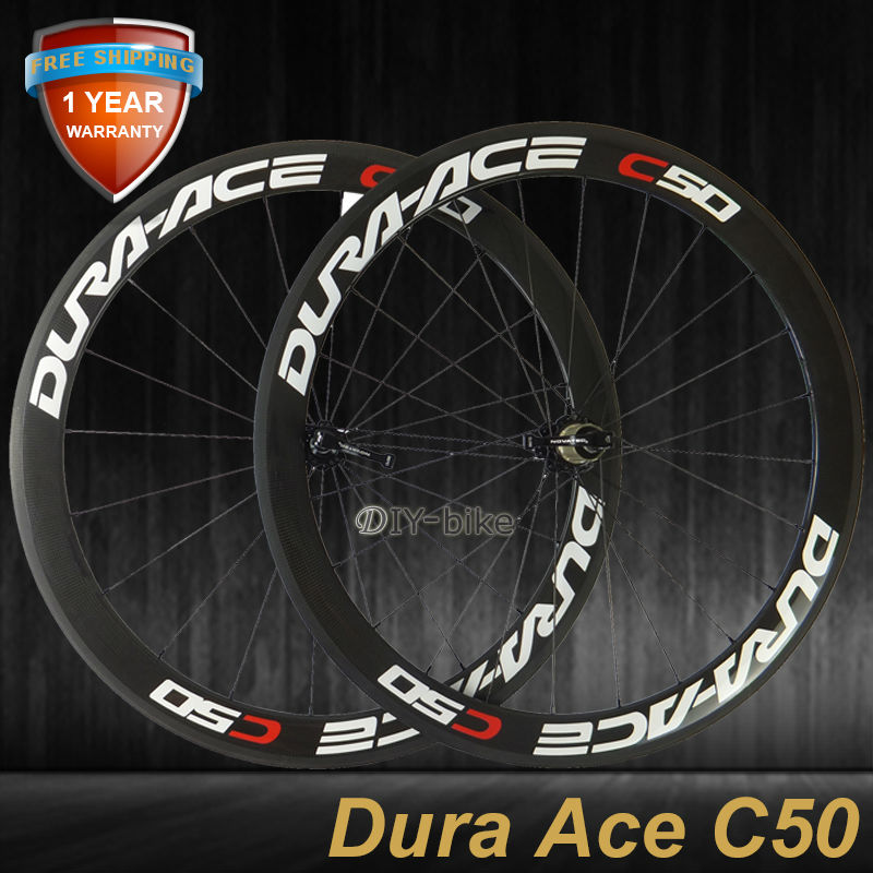 C50 bike wheels 50mm clincher wheels road / racing carbon fiber bicycle wheels(China (Mainland))